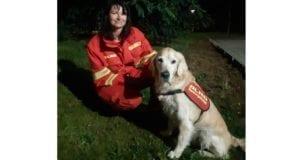 Suchhund Seddy mit Ilonka Neuss DLRG Augsburg