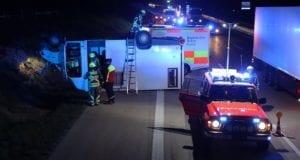 Unfall A8 Guenzburg – Burgau Transporter 16092020 17