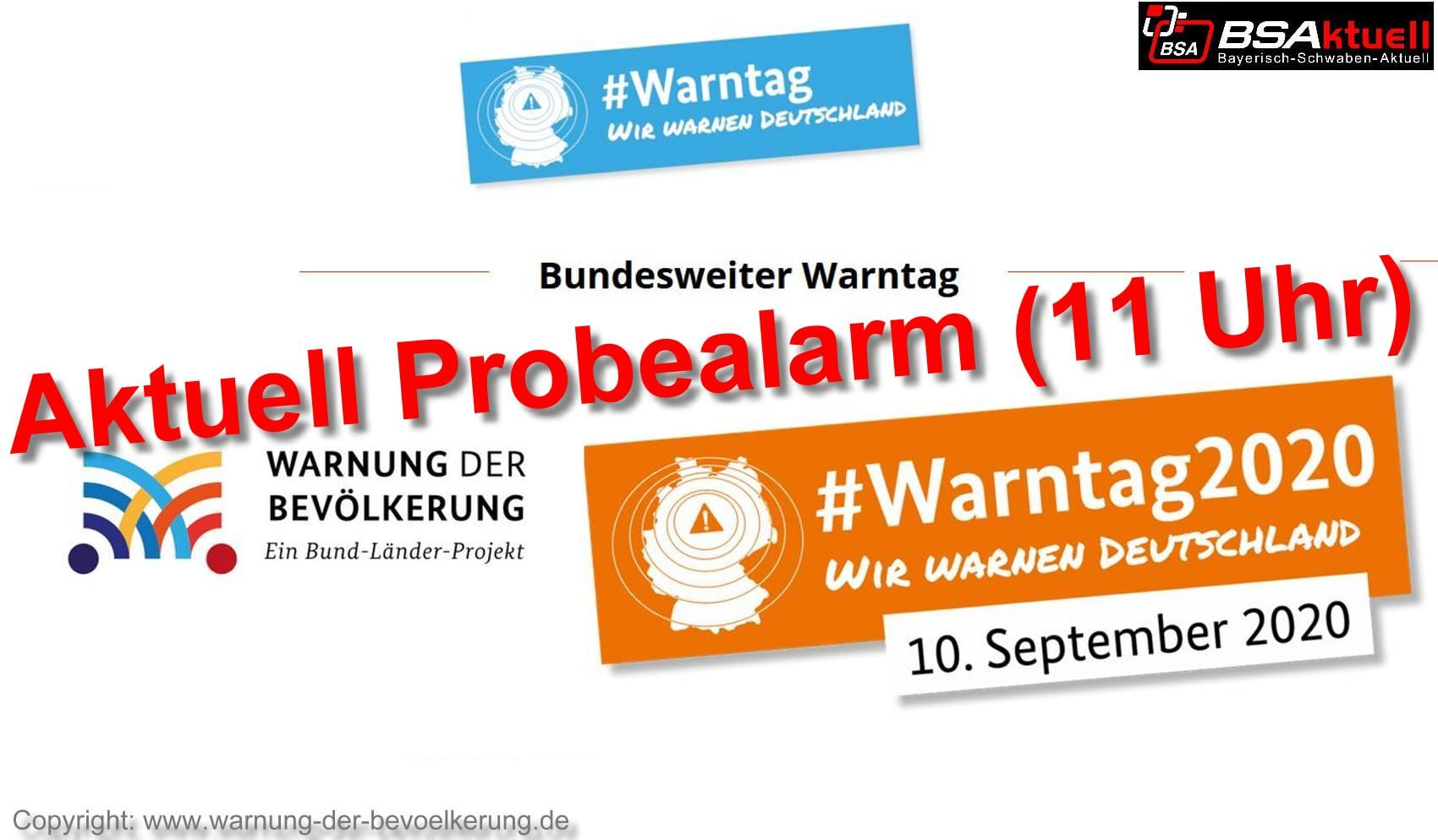 Warntag-Symbolbild Probealarm