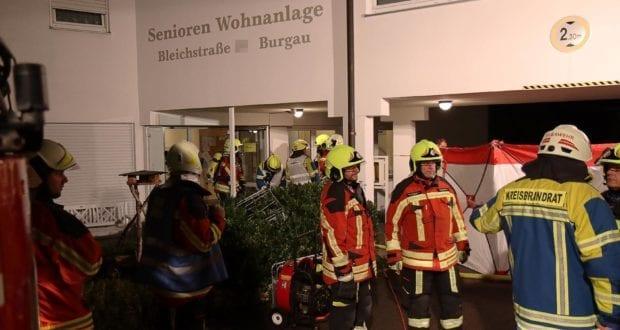 Zimmerbrand in Seniorenheim Burgau 1 Person verstorben 31082020 16