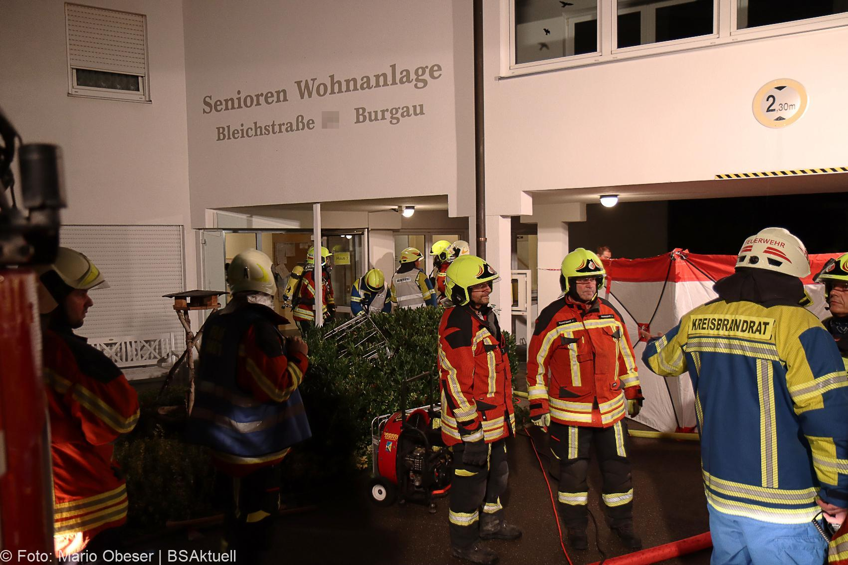 Zimmerbrand in Seniorenheim Burgau 1 Person verstorben 31082020 16