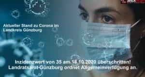 Coronavirus-Mund-Nase-Maske-Kreis-Guenzburg Schwellwert 35