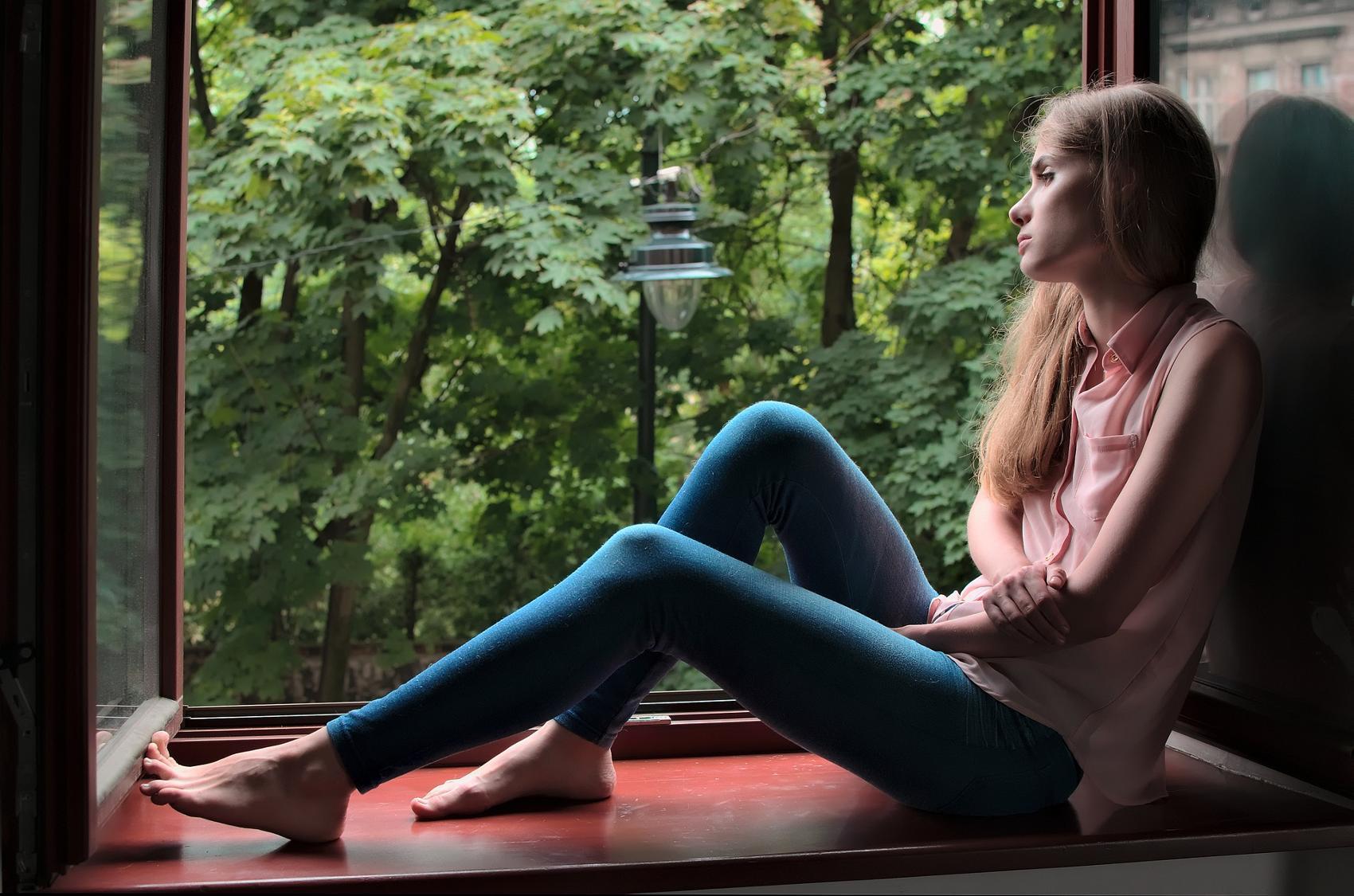 Fenster Maedchen