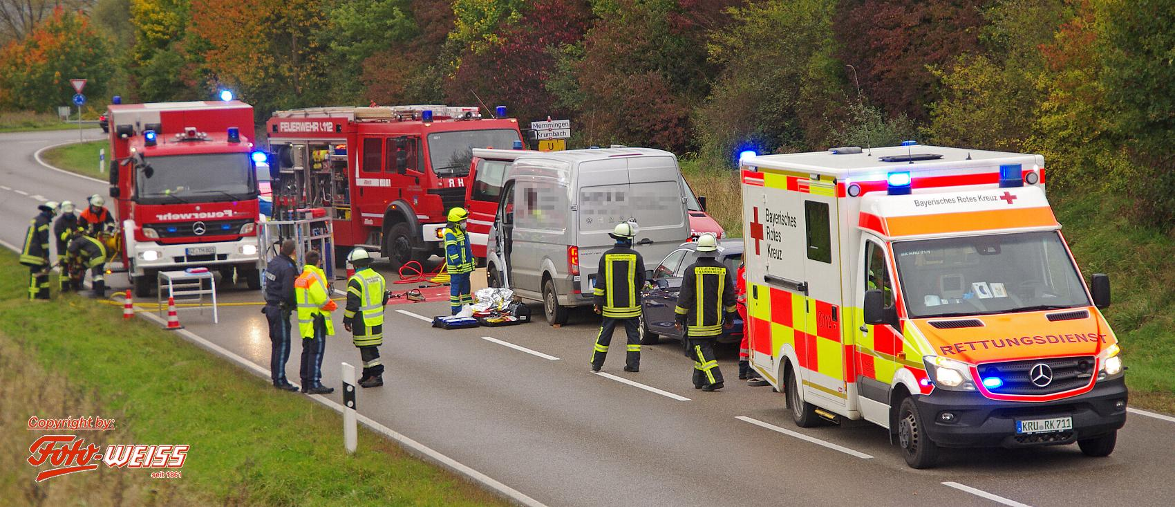 Thannhausen Unfall Kreisverkehr 15102020 2