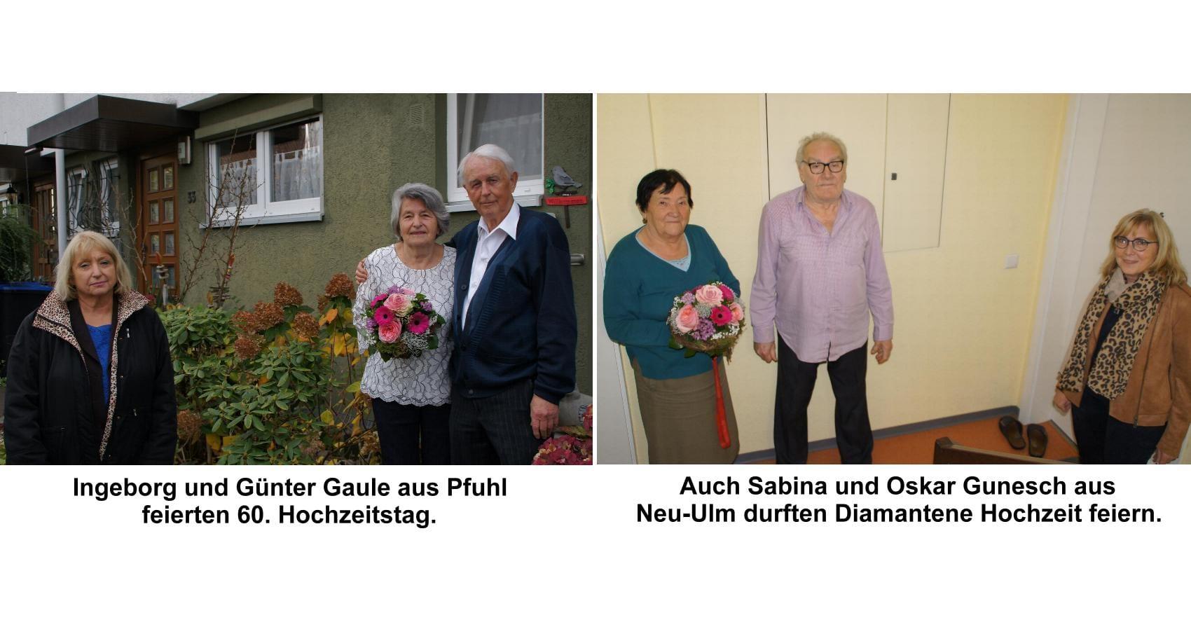 60.Hochzeitstag Gaule Gunesch
