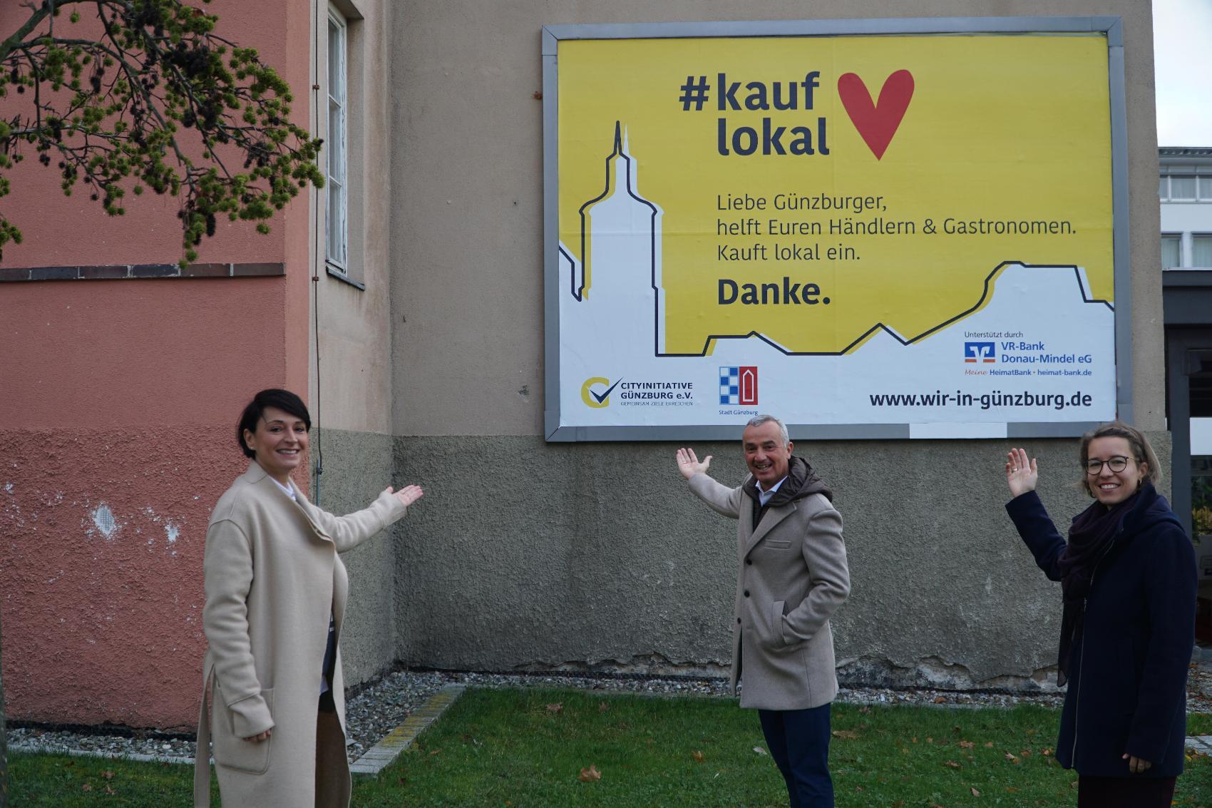 Plakatwand Cityinitiative Guenzburg