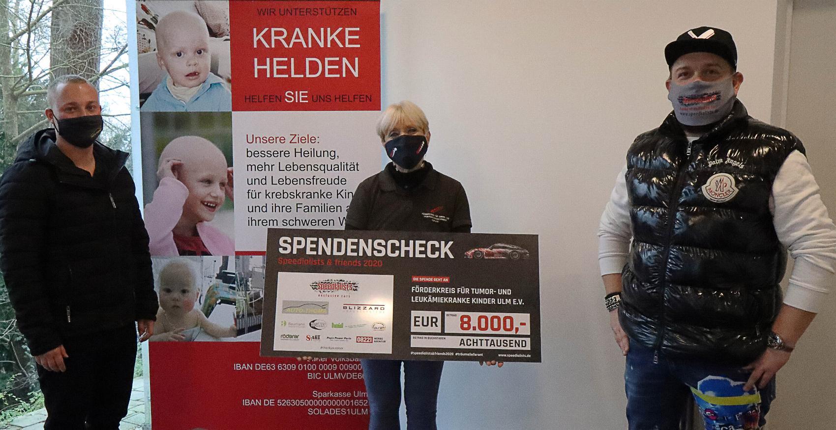 Artikel Spende Speedailits Fuerderkreis Ulm