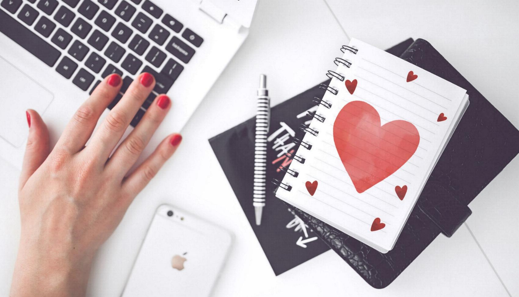 Computer Laptop Herz Liebe