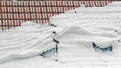 Dachlawine Schnee