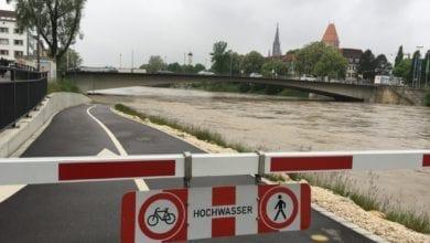 Hochwasser Iller Neu-Ulm