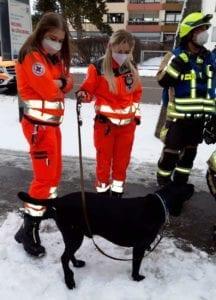 Hund gerettet Feuerwehr Guenzburg