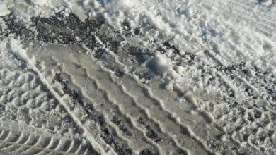 Reifen Spur Schnee