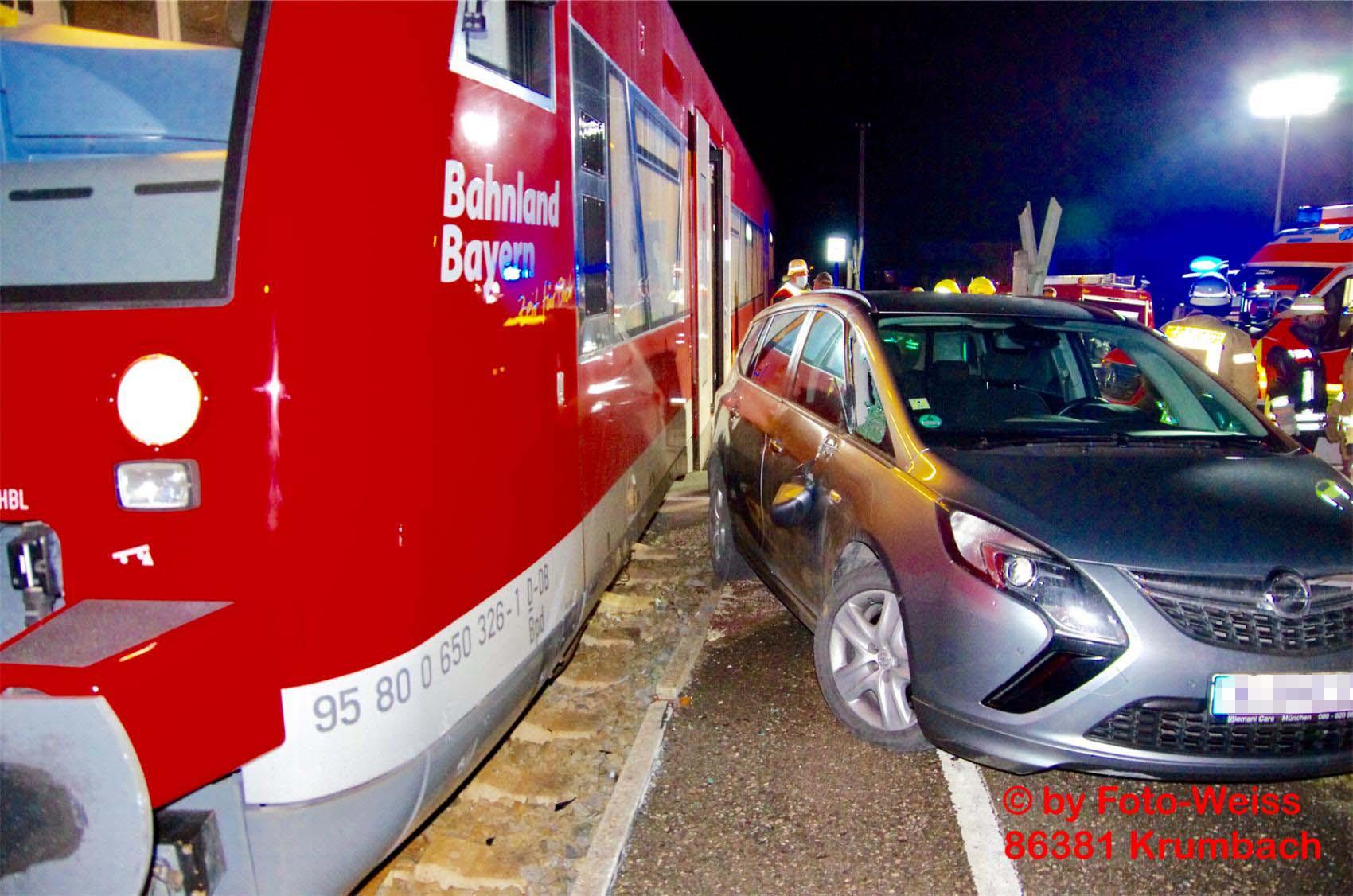 Unfall Zug Pkw Haupeltshofen 04012020 1