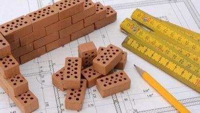 Bauplan Ziegel Bau