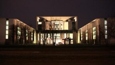 Bundeskanzleramt bei Nacht dts