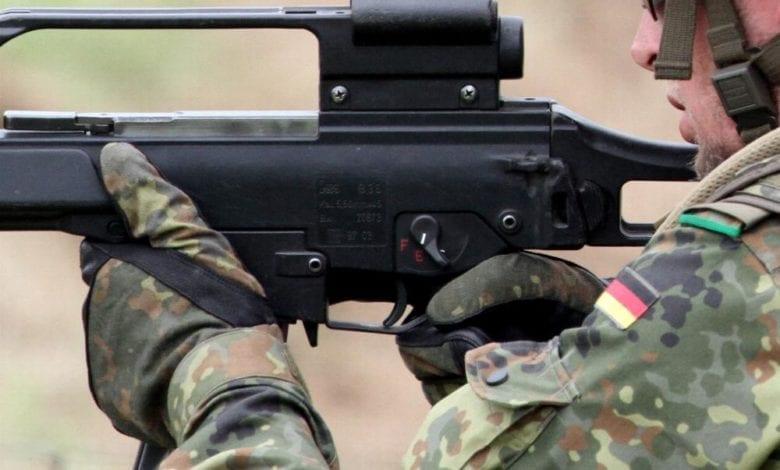 Bundeswehr-Soldat mit G36 dts