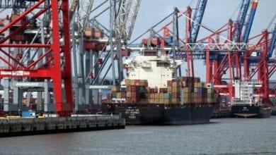 Containerschiff Hafen dts