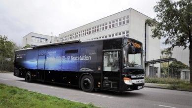 Evobus Corona-Test-Bus