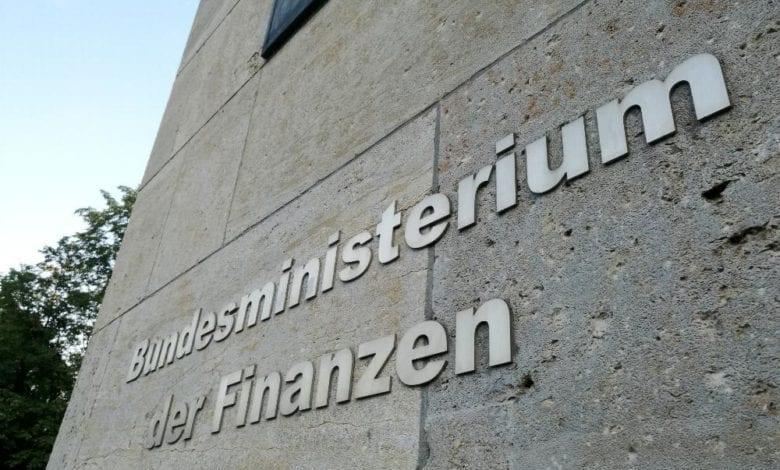 Finanzministerium Schriftzug dts
