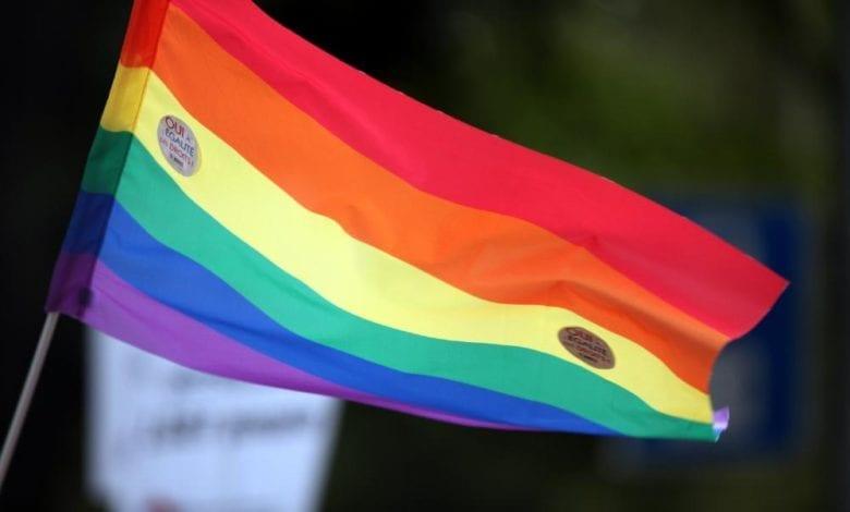 Regenbogen-Fahne dts