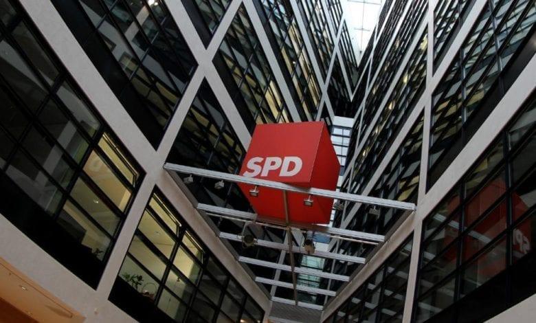 SPD-Logo im Willy-Brandt-Haus dts