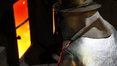 Stahlproduktion Arbeiter dts