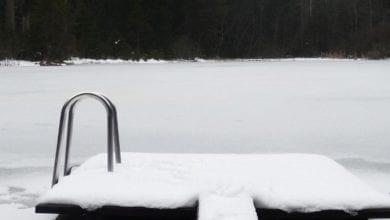 Wasser Winter Eisflaeche