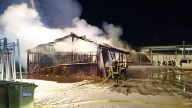 Weißenhorn Lagerhalle Brand 14022021