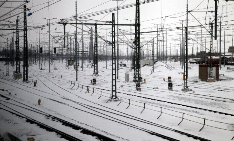 Winter bei der Deutschen Bahn dts