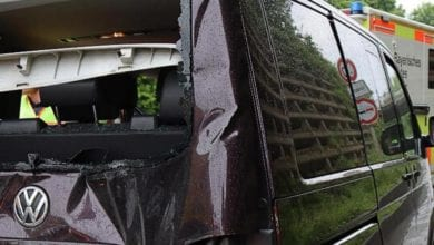 Verkehrsunfall Kleinbus